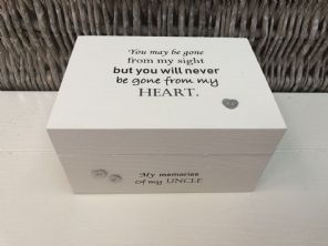 Personalised In Memory Of A Loved One ~ Box ~ UNCLE ~ any Name Bereavement Loss - 253568260054